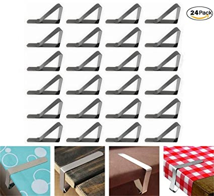 Amazoncom Kachabros Stainless Steel Tablecloth Clips For Picnic - Stainless steel picnic table