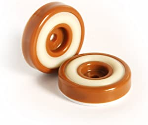 Slipstick CB320 Non Skid Furniture Feet Floor Protectors with Rubber Grip (Set of 8 Grippers) 1-1/4 Inch Round - Caramel