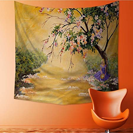 Tapestry Wall Hanging Oil Painting Acrylic Like Flower Petal