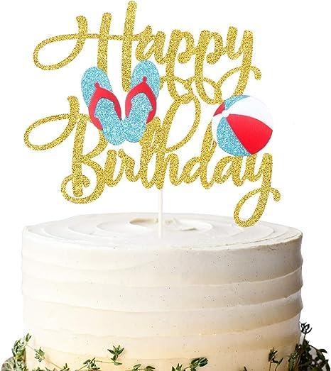 25 Piezas Bolas Coloridas Topper de Tarta Palillos de Tarta de Happy Birthday Juego de Adornos de Pastel Decoraci/ón de Tarta de Boda Cumplea/ños Rosa y Blanco