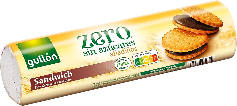 Gullón Galleta Sándwich Chocolate ZERO sin Azúcares, 250g