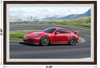 Amazon Com Porsche 911 991 Gt3 2013 Framed Car Art Poster Print