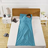 Lightweight Warm Roomy Cotton Sleeping Bag Liner Sleep Sack Camping Travel Outdoor Picnic Travel Sheet Sleep Sack Comfortable, for Travel, Youth Hostels, Picnic, Planes, Trains