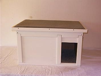 Gato Casa Exterior con Wind Fang suelo aislado: Amazon.es: Productos para mascotas