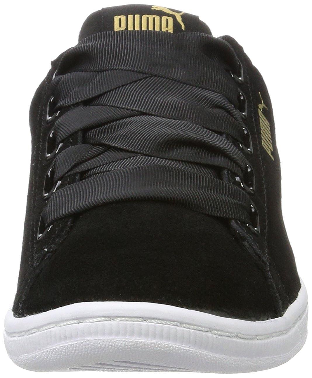 Puma Damen Schwarz Vikky Ribbon Sneaker Schwarz Damen (schwarz-schwarz) 0c7870