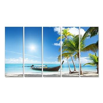 Islandburner Bild Bilder Auf Leinwand Palmen Strand Karibik Poster