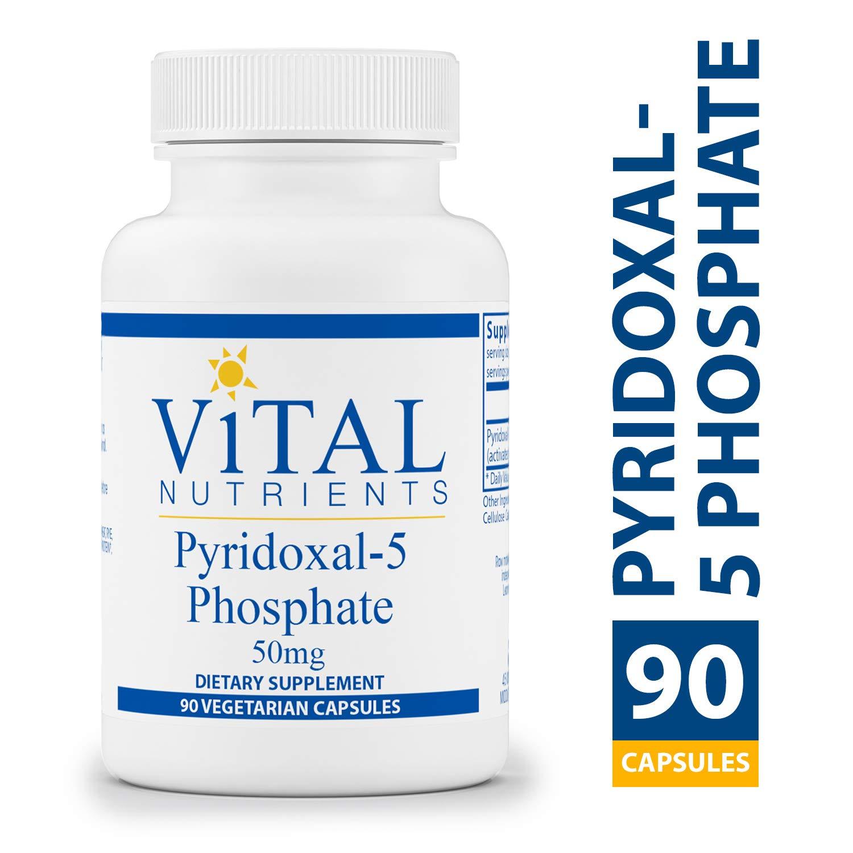 Vital Nutrients - Pyridoxal-5 Phosphate 50 mg - Activated Vitamin B6 - 90 Vegetarian Capsules per Bottle