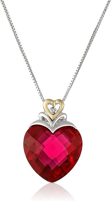 Large Diamante Heart Pendants X 5