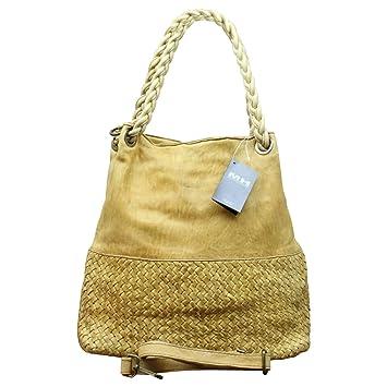 5d68838e11140 Ital. echt Leder Vintage Shopper Ledertasche Shopper Schulter Tasche Leder  Vintage Geflochten