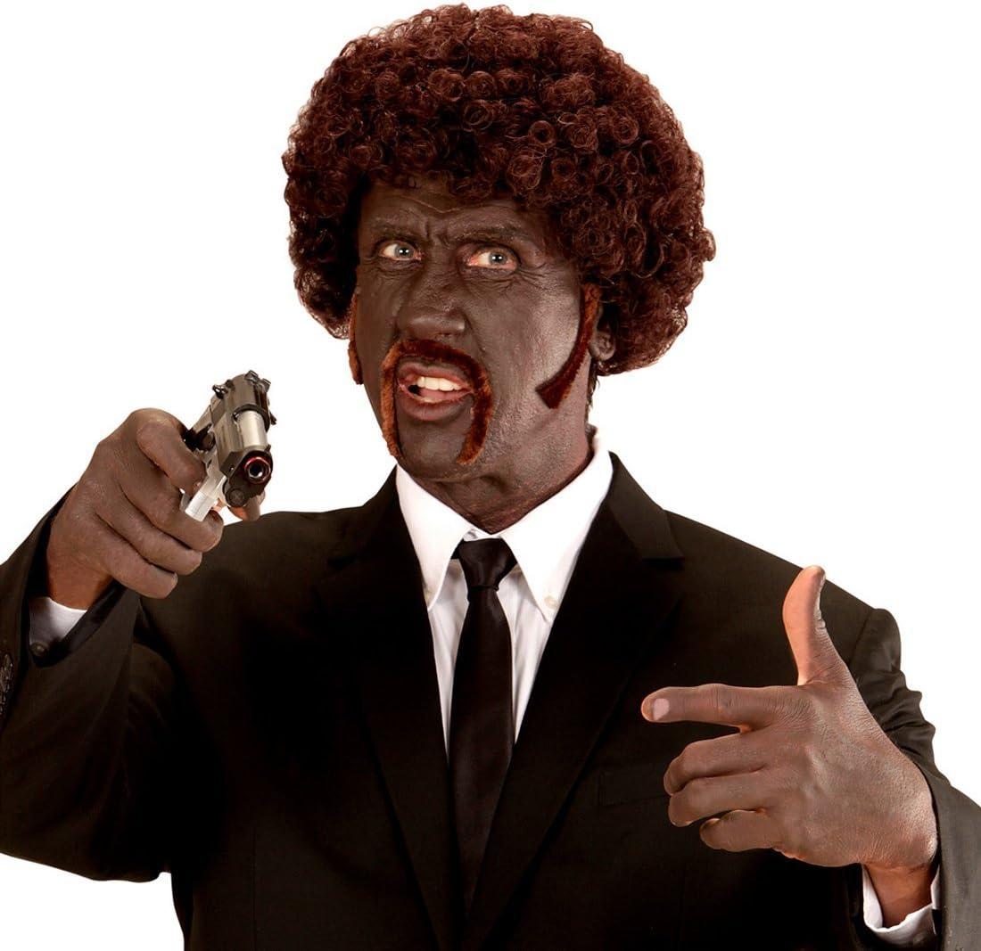 NET TOYS Peluca rizada Afro Pulp Fiction postiza Rizado Afro 80 ...