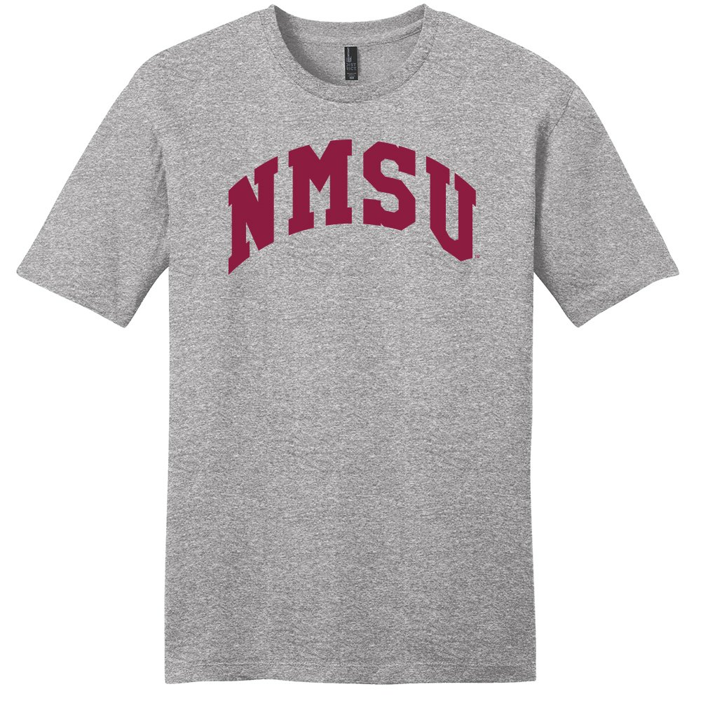 Light Heather Grey XX-Large Campus Merchandise NCAA New Mexico State Aggies Arch Soft Style T-Shirt