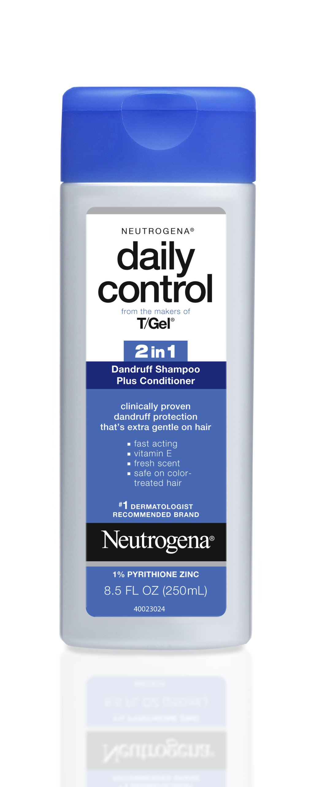 Neutrogena T/Gel Daily Control 2-in-1 Anti-Dandruff Shampoo Plus Conditioner with Vitamin E and Pyrithione Zinc, Fast Acting Relief for Scalp Itching and Flaking, 8.5 fl. oz (Pack of 2) by Neutrogena