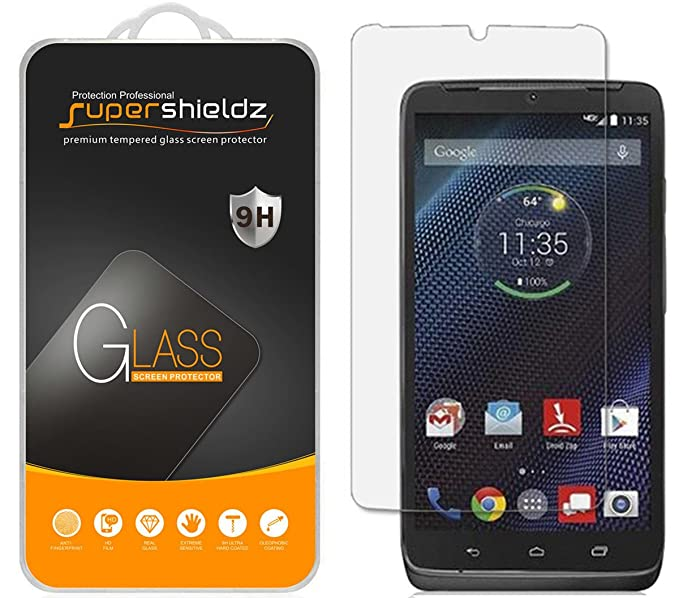 Supershieldz for Motorola Droid Turbo Tempered Glass Screen Protector, Anti-Scratch, Anti-