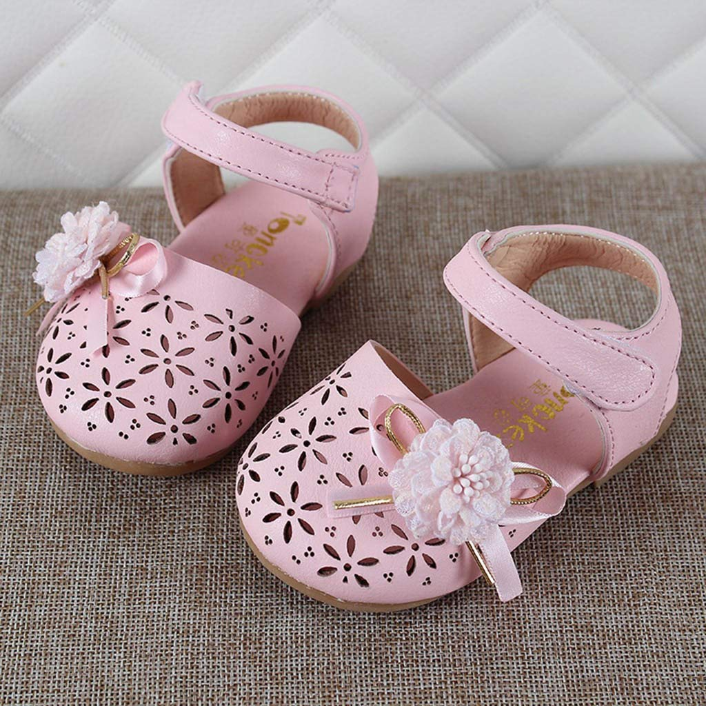 Jarsh Baby Girl Shoes Toddler Lace Flower Hollow Princess Soft Sole First Walkers Moccasins Crib Shoes