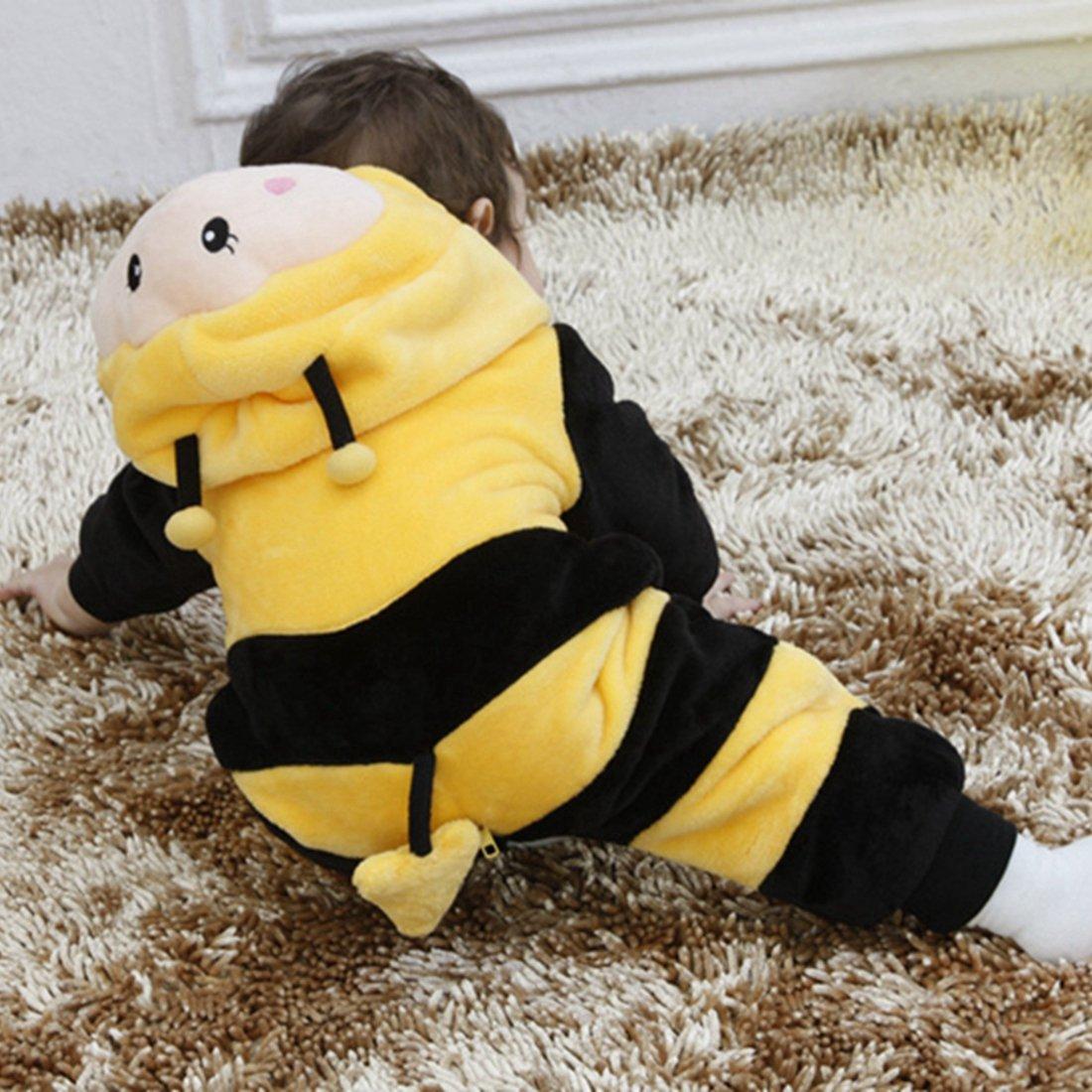 Ropa de Noche con Capucha IFLIFE Beb/é Kigurumi Pijamas Pelele Animal Mono para Ni/ño Ni/ña Infantil