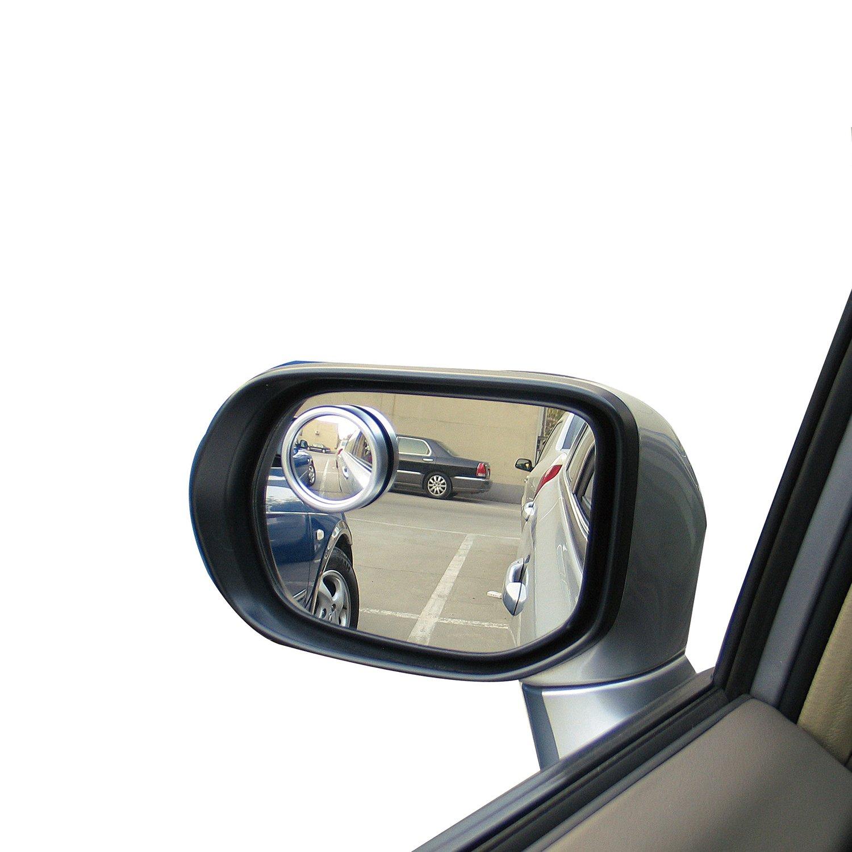 Durapower Blind Spot Mirror, 2'' Round HD Glass Convex Rear View Mirror, Pack of 2 by Durapower (Image #2)