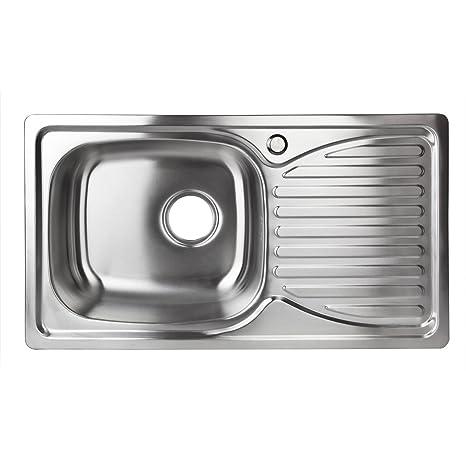 Abtropffläche 50*43cm Küchenspüle Einbauspüle Waschbecken Edelstahl Spülbecken
