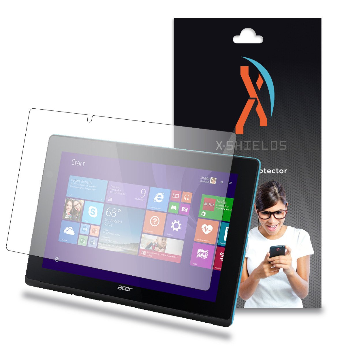 XShields© (2-Pack) Screen Protectors for Acer Aspire Switch 10 E SW3-013 (Ultra Clear)