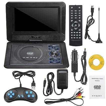 Amazon.com: Reproductor de DVD portátil de 9,8 pulgadas ...