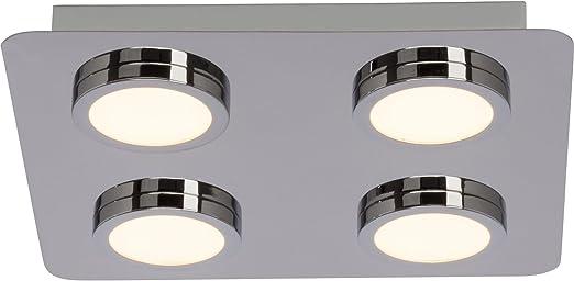 Lampe Murale Plafonnier Chrome Plastique Acrylique DEL