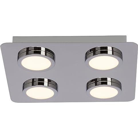 Badezimmer LED Deckenleuchte, IP44 Spritzwassergeschützt, 4x 5W ...