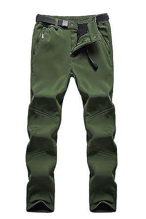 63d6d9d599d QuietClouds Women s Outdoor Water Resistant Windproof Softshell Fleece Snow  Pants US1613W Armygreen XS