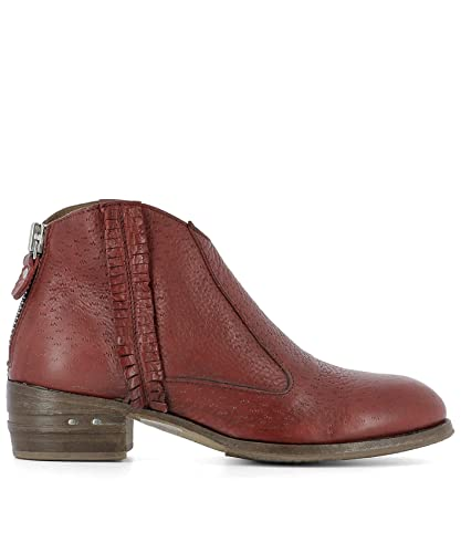 MOMA FEMME 32702546PECARYROSSORED ROUGE CUIR BOTTINES bx96kCpH8