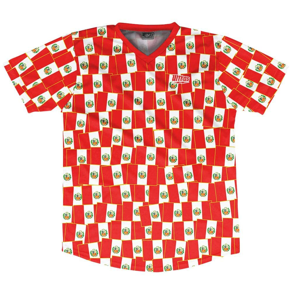 Ultras Peru Party Flags Soccer Jersey