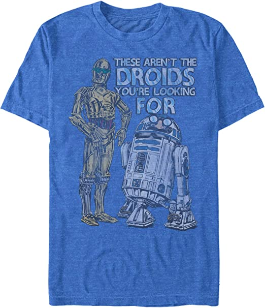 These are not the droids you are looking for mens printed sci-fi T-shirt