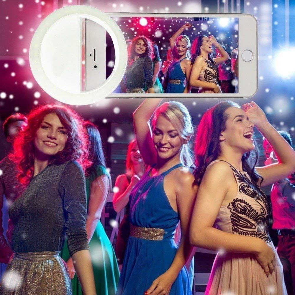 Ergode Portable Selfie Light Ring Lights LED Circle Light Cell Phone Laptop Camera Photography Video Lighting Clip On Multi- Color