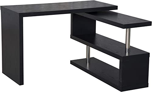 "HOMCOM 75"" Modern Corner Rotating Combo L-Shaped Computer Desk Workstation"