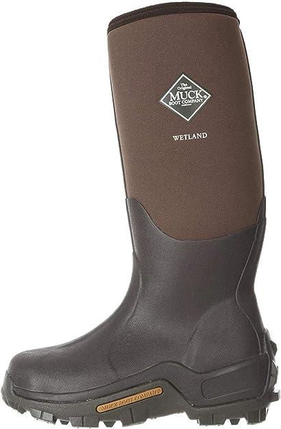 Muck Boots WETLAND Unisex Mens Ladies Waterproof Wellington Boots Bark