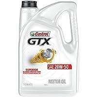 Castrol 03095 GTX 20W-50 Motor Oil, 5 Quart