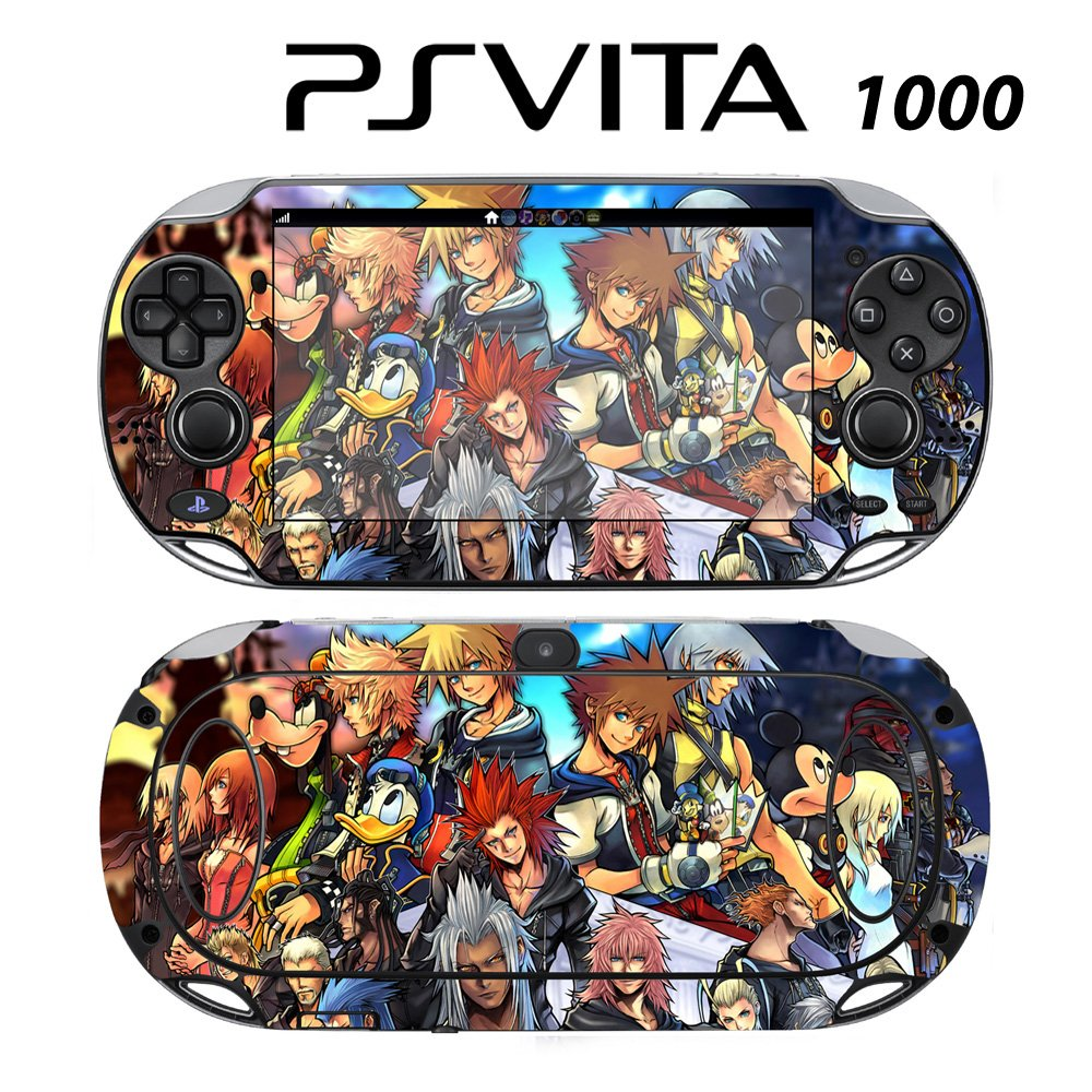 Decorative Video Game Skin Decal Cover Sticker for Sony PlayStation PS Vita (PCH-1000) - Kingdom Hearts Final Mix II