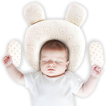 Recien Nacido Plagiocefalia Almohada Ortop/édica Prevenir Antiasfixia, Natural Latex is Safer Regalo 2 Fundas de Almohada Desmontables Bebe Para Evitar Cabeza Plana Upchase Almohada Para Beb/é