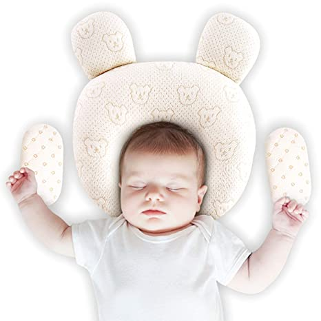 Upchase Almohada Para Bebé, Recien Nacido Plagiocefalia Almohada Ortopédica, Bebe Para Evitar Cabeza Plana, Prevenir Antiasfixia, (2 Fundas de ...