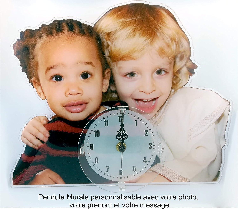 Kdoartisanal Horloge Personnalisee Photo Pendule Personnalisee Silencieuse Idee Cadeau Decoration Personnalisable Photo Texte Amazon Fr Handmade