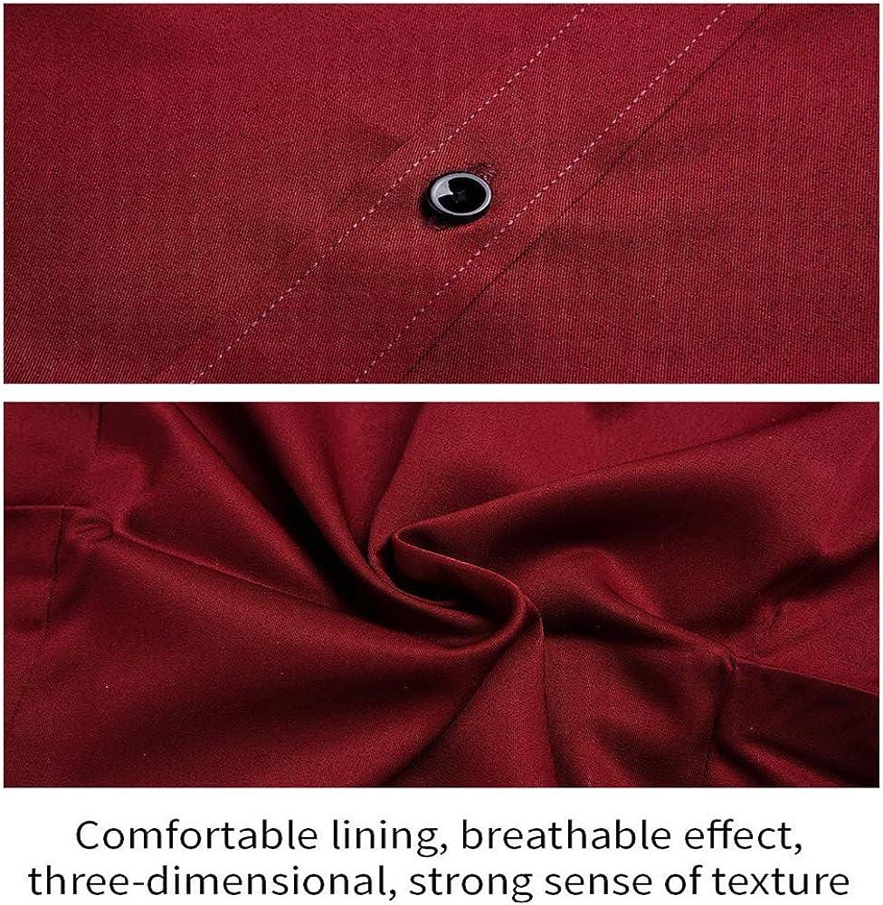 Gdtime Homme Chemise sans Repassage Manches Longues Slim Fit Uni Chemises Casual Infroissable(Taille Plus Grande)