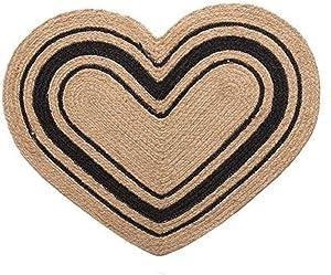 IHF Home Decor Bristol Heart Jute Braided Rug 20 x 30 Inch