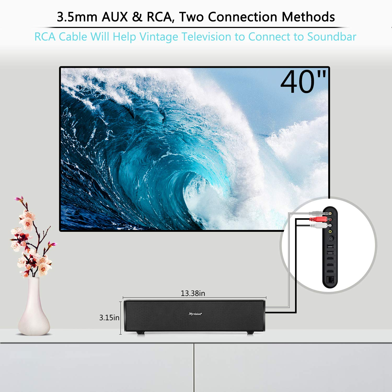 Amazon.com: Soundbar, 30W Sound Bar Home Theater Audio Surround ...