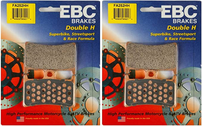 FA252HH FAST FREE SHIP NEW EBC Sintered HH Front Brake Pads Set of 2