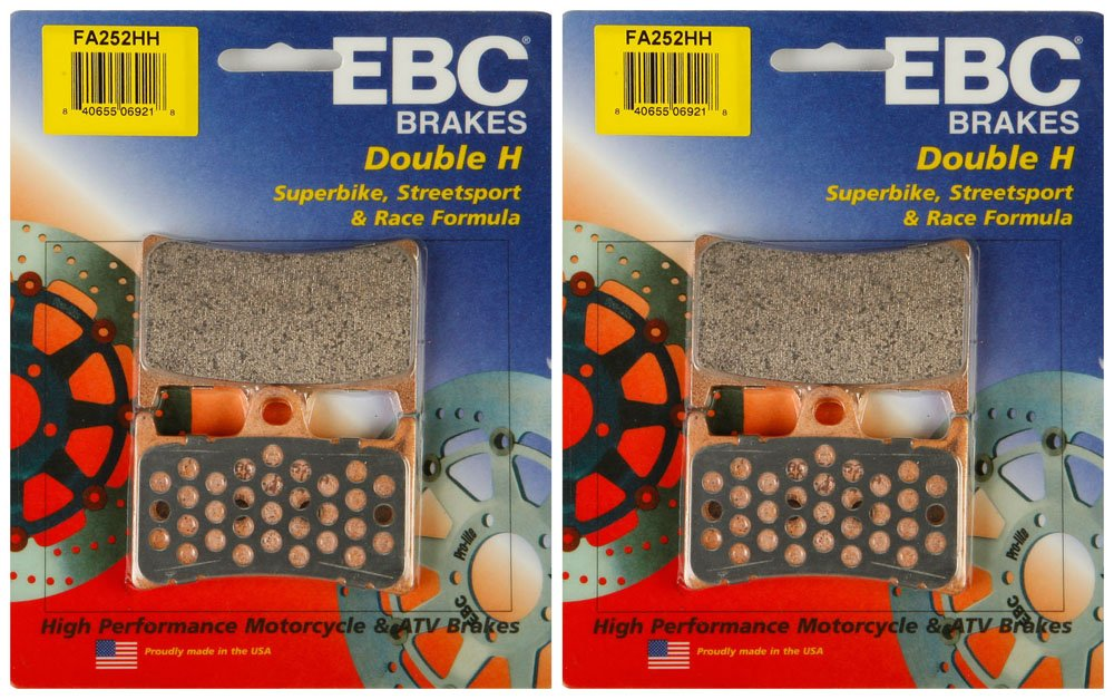 EBC Double-H Sintered Metal Brake Pads FA252HH (2 Packs - Enough for 2 Rotors)