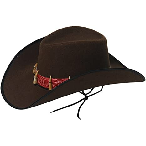 667612a4 Fancy Dress Brown Cowboy With Teeth Hat Australian Crocodile Man Adult  Size: Amazon.co.uk: Toys & Games
