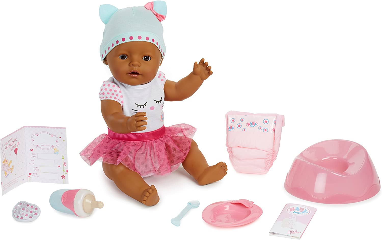 Baby Born Interactive Doll - Dark Brown Eyes