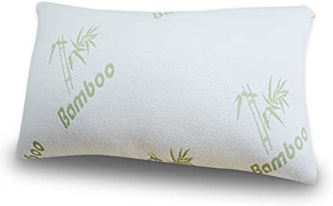 babymommy Bamboo ADJUSTABLE Shredded Memory Foam Pillow - FIRM - Micro-Vented Cover with Zipper Hypoallergenic and Dust Mite Resistant - by Grand - KING