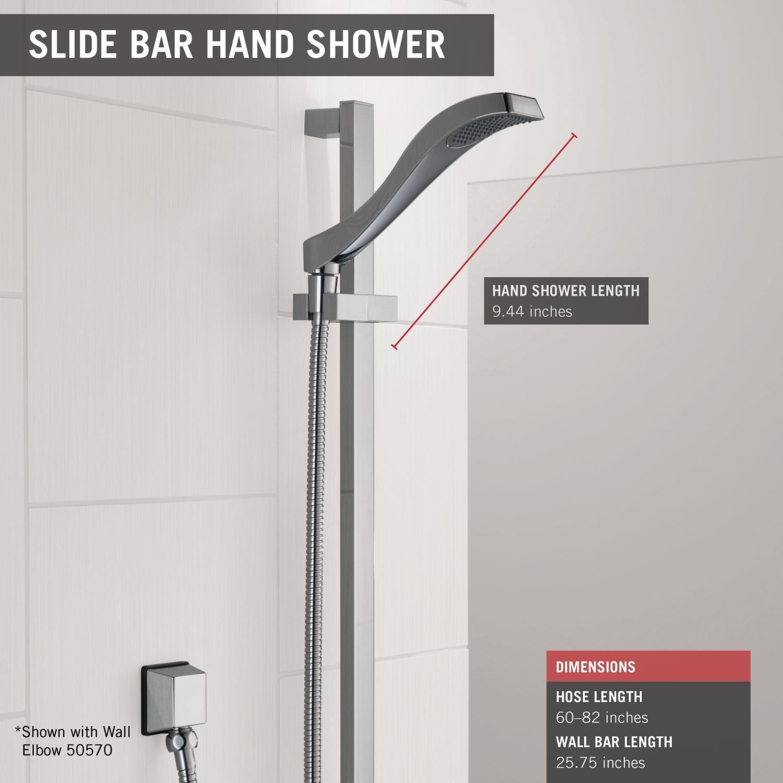 Delta Faucet 57051 Dryden Slide Bar Handshower, Chrome   Hand Held  Showerheads   Amazon.com