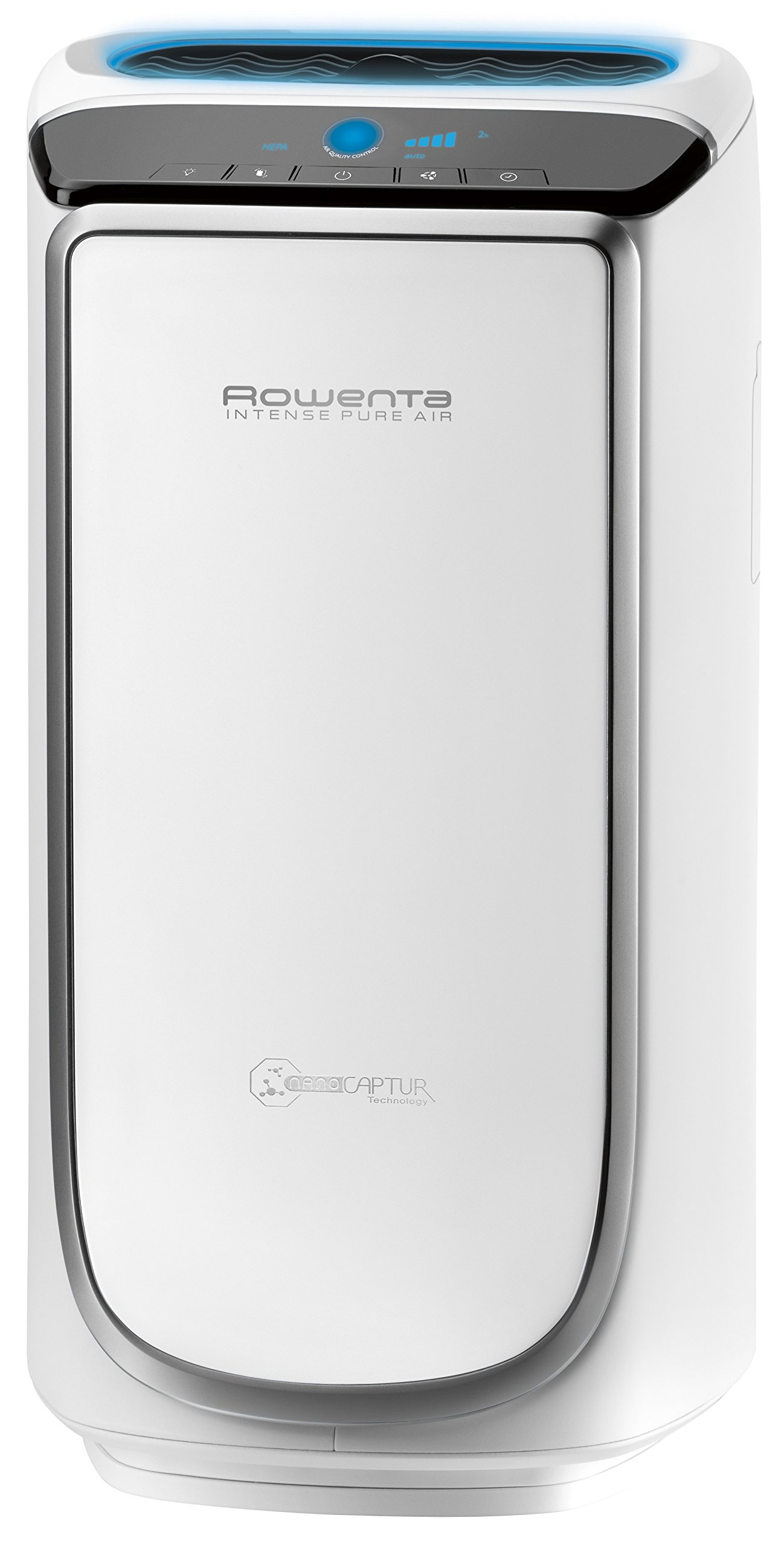 Rowenta PU4020 Intense Pure Air 400-Square Feet Air Purifier with Pollution Sensors and 4-Filters Including HEPA Filter and Formaldehyde-Free Technology and Odor Eliminator, 21-Inch, White