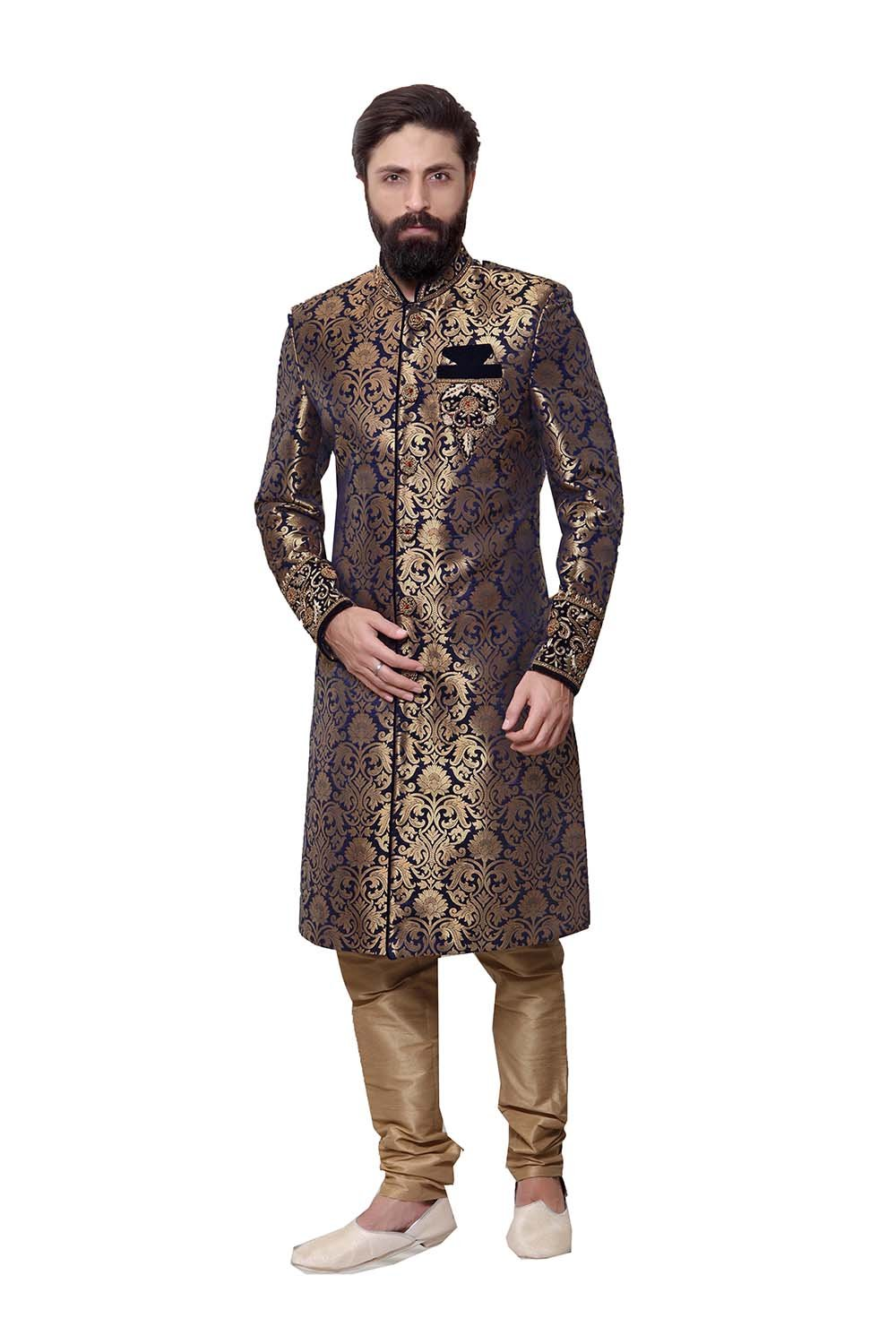 Indian Sherwani For Men Readymade Designer Partywear For Wedding Exclusive Fashion Indo-Western Dress