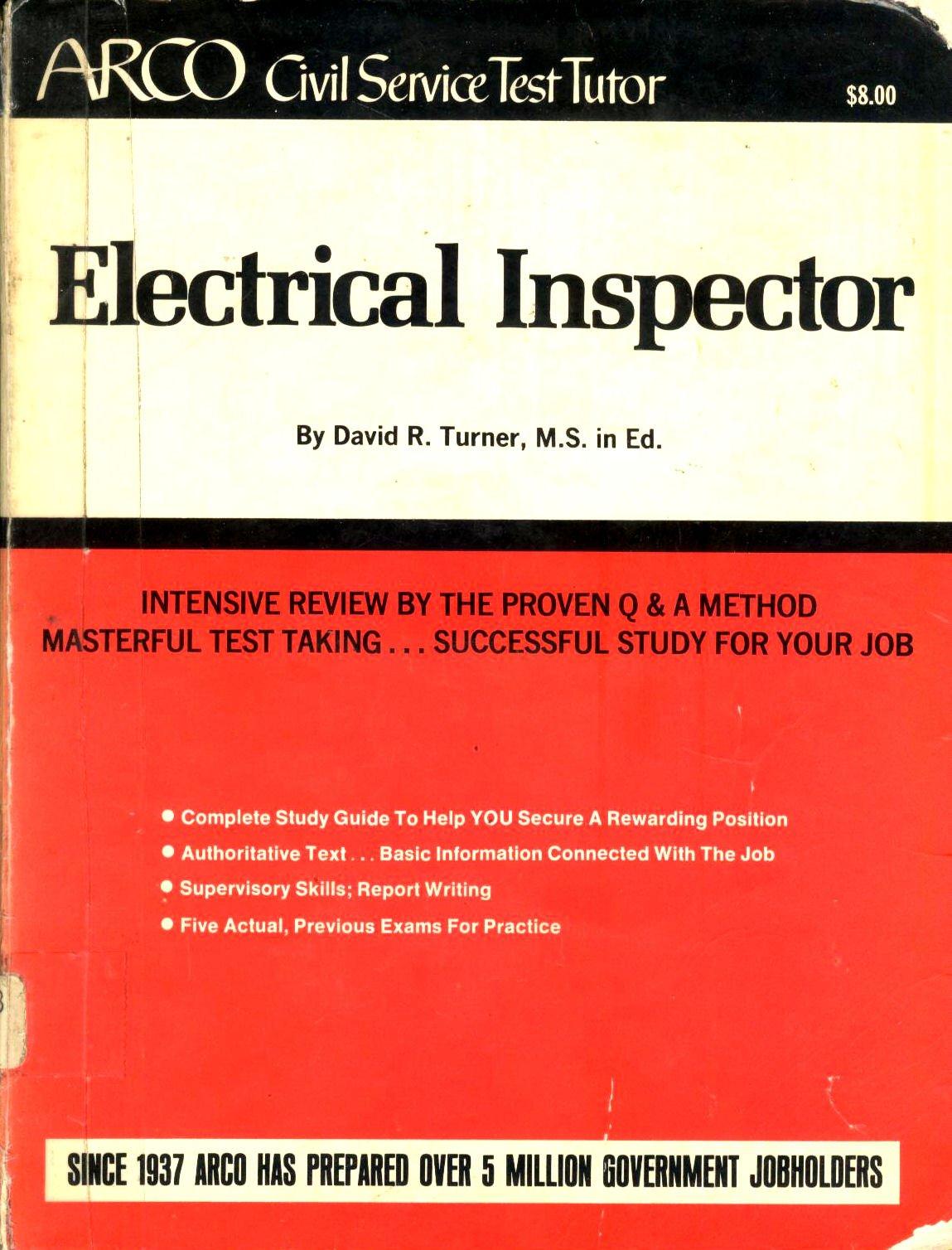 Electrical Inspecter (Arco civil service test tutor): CIVIL SERVICE:  9780668033503: Amazon.com: Books