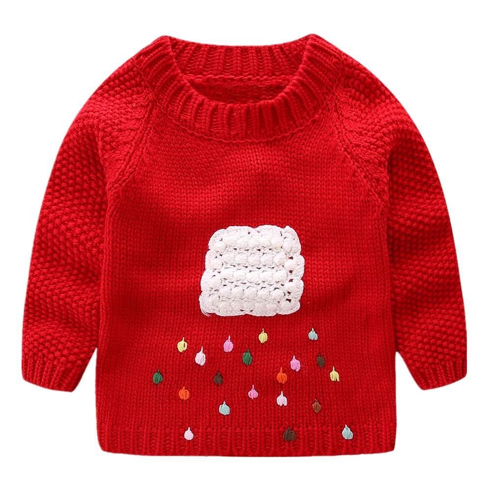LittleSpring Little Girls' Sweater Long Sleeve SLSS0220